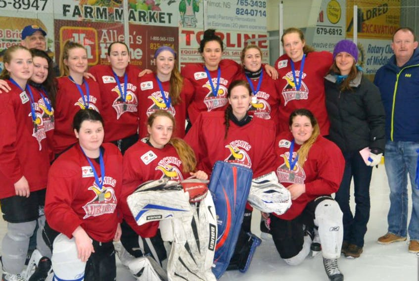 The YCMHS Vikings won silver at the NSSAF high school girls Division 2 provincials.