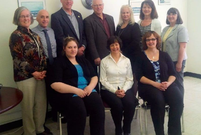 <p>On hand for the Skills Links federal funding announcement in Digby on April 14 were Bea McLean, Hubert d'Entremont, site manager at the Digby General Hospital, Digby Mayor Ben Cleveland, West Nova MP Greg Kerr, Debbie Cook, Brenda Tibbetts, Freda Thurber, Charmaine Amero, Clare Thorbes and Jan Murley.</p>