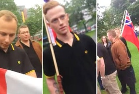 Three of five military members who identified as Proud Boys during a 2017 protest in Halifax are still in uniform, even though Canada deemed the alt right group a terrorist organization last week.