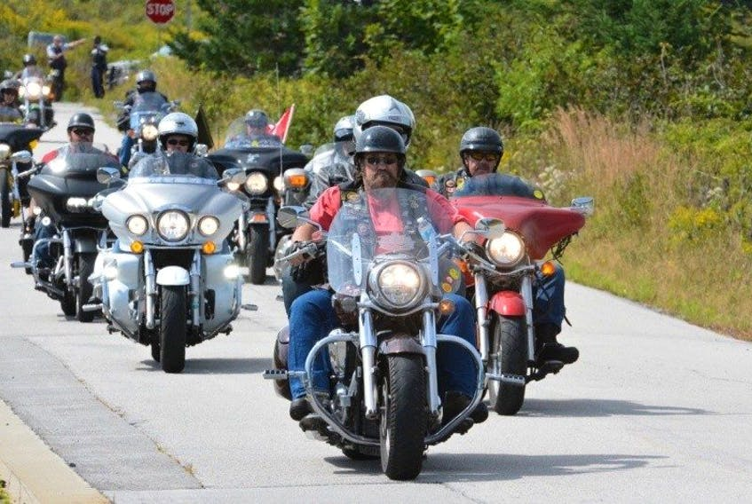An image from the Darren Williams commemorative motorcycle ride from 2016. This year's event is scheduled for Saturday, Sept. 2. Participants ride from Digby to Hebron, Yarmouth County, where a ceremony is held at the Afghanistan war monument at Maple Grove.
