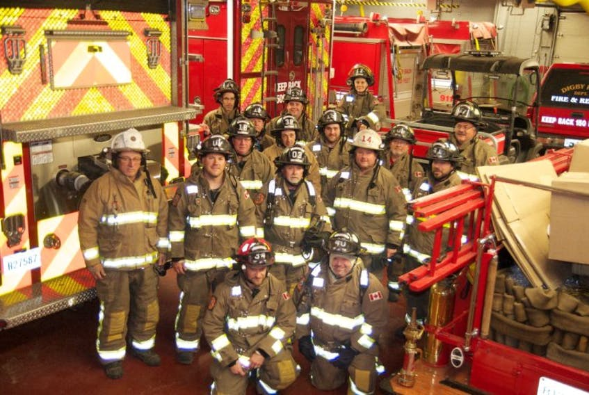 Volunteers with the Digby Fire Department. $70,000, a combination of funds raised and grant money, will go towards keeping their gear up to date.